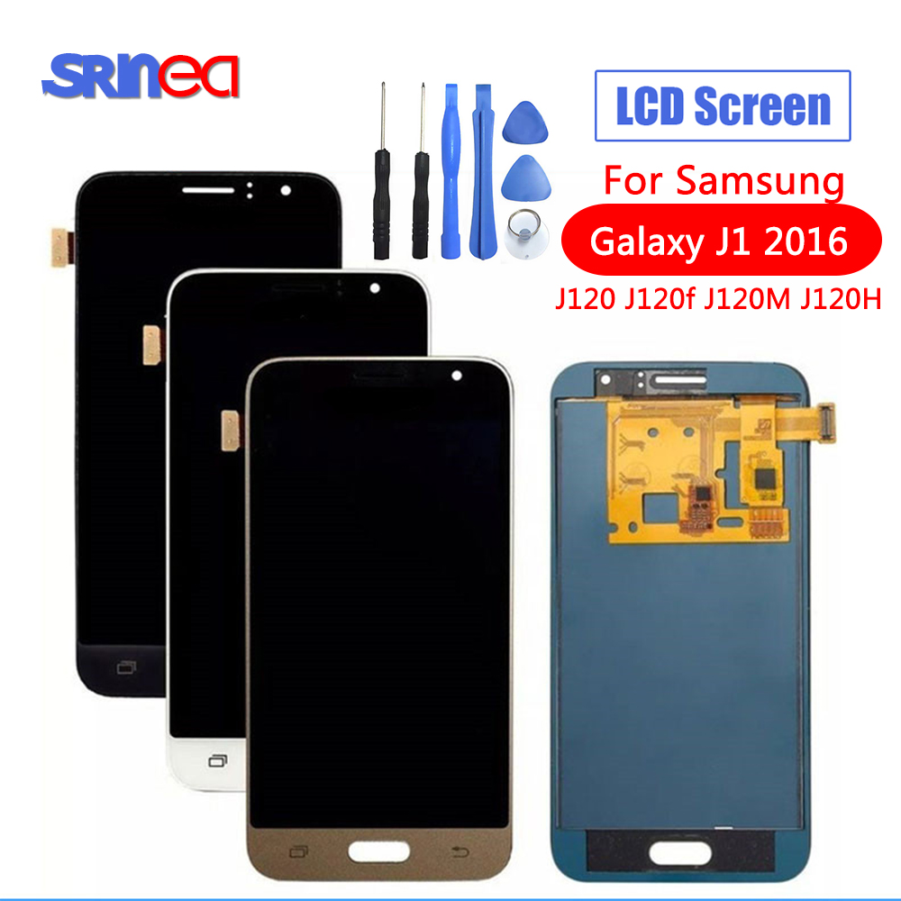 SM J120FN/F/DS For Samsung Galaxy J1 2016 J120 LCD Display Touch Screen J120H J120FN J120F J120M Screen Adjust Brightness Tools-in Mobile Phone LCD Screens from Cellphones & Telecommunications