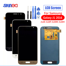 SM-J120FN/F/DS For Samsung Galaxy J1 2016 J120 LCD Display Touch Screen J120H J120FN J120F J120M Screen Adjust Brightness Tools 10pcs lot for samsung galaxy j1 2016 j120 j120f j120ds j120m j120h sm j120f front outer glass lens touch screen panel replacemen