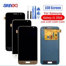SM J120FN/F/DS dla Samsung Galaxy J1 2016 J120 wyświetlacz LCD ekran dotykowy J120H J120FN J120F J120M regulacja jasności narzędzia