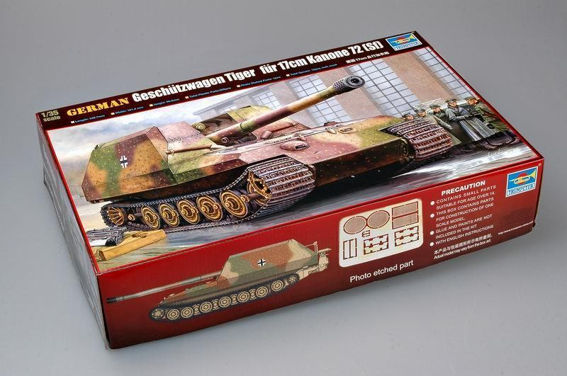 Trumpeter Model 00378 1/35 German Geschutzwagen Tiger Fur 17cm K72 Tank Model Kit
