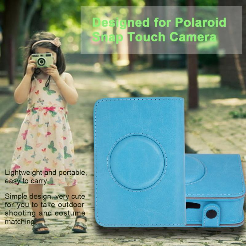 PU Leather Protective Cover Case Bag for Polaroid Snap Touch Camera