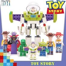 8 in1 Toy Story 4 figurki gremliny Gizmo drzewno Buzz astral strażnik kosmosu Jessie Andy Super Mario klocki przyjaciel zabawki