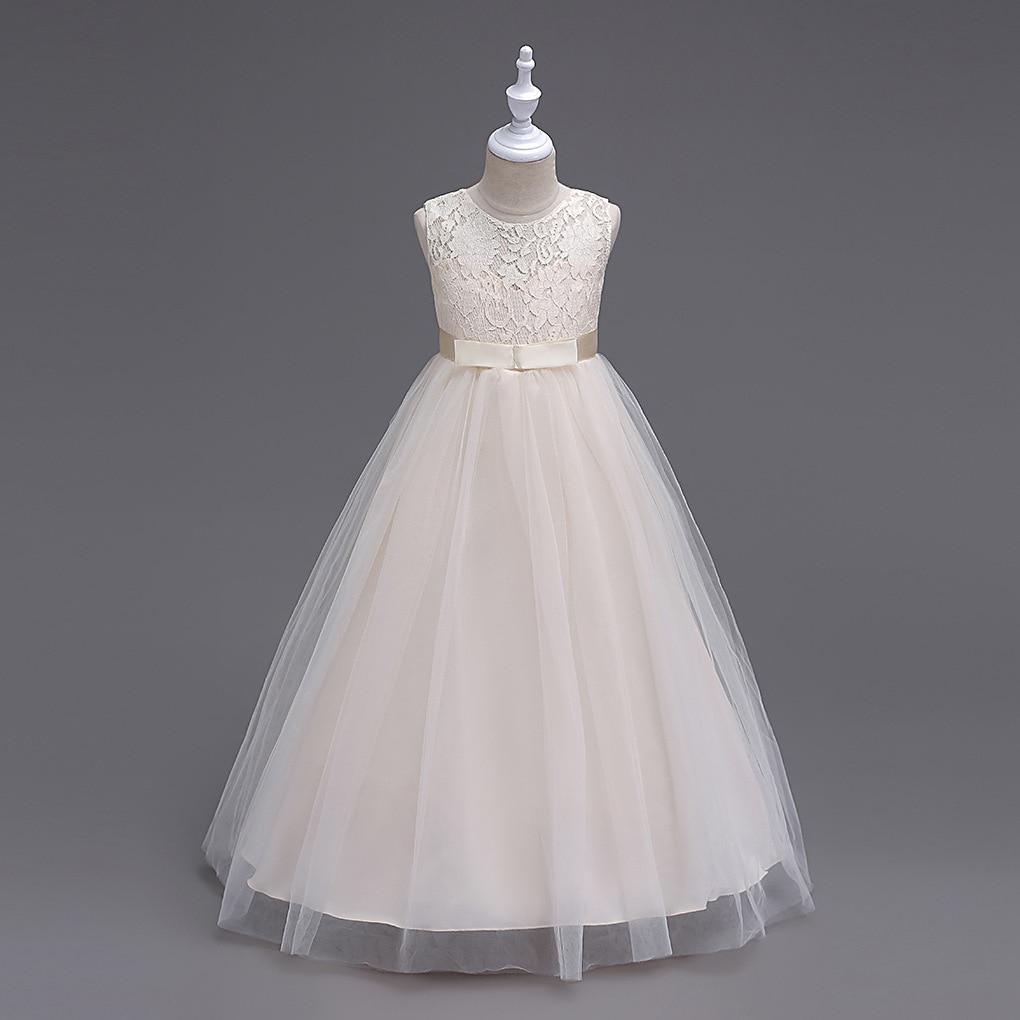 Детское длинное вечернее платье подружки невесты, Длинные вечерние платья для вечерние, бежевое, темно-синее, серое, белое вечернее платье д...