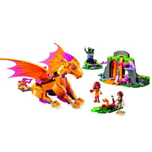 Bela 10503 Fairy Firedrake Reef Fiery Dragon Minifigures Building Block Bricks Toys Kids Gift New Style Compatible with Legoe