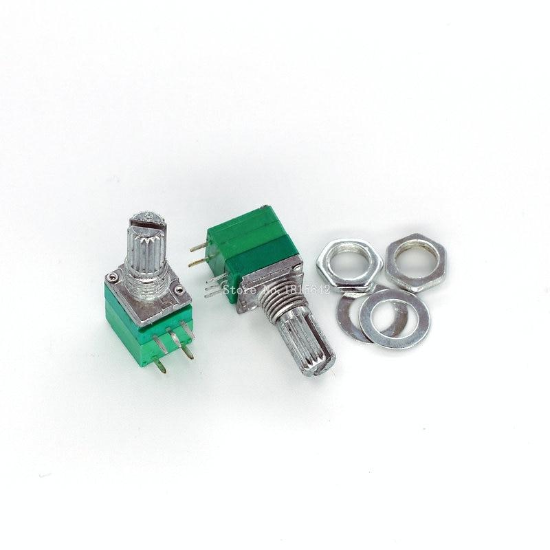 B5K 10K 50K 100K RK097-G Seal Potentiometer Double 6 Pin Audio Pot Carbon Film