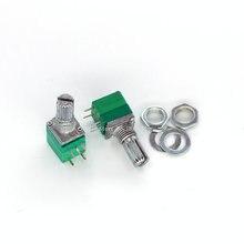 5 sztuk RV097NS B5K B10K B20K B50K B100K B500K 5K 10K 50K 100K z przełącznikiem Audio 5pin wał 15mm wzmacniacz uszczelniania potencjometr