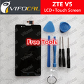 ZTE V5 LCD Assembly LCD Display + Touch Screen Panel + Tools Replacement For ZTE Red BULL U9180 V9180 N9180