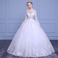 Sexy Strapless Wedding Gowns With Applique Lace Beaded Special Collar Instock Customized Princeless Romantic Bride Dress