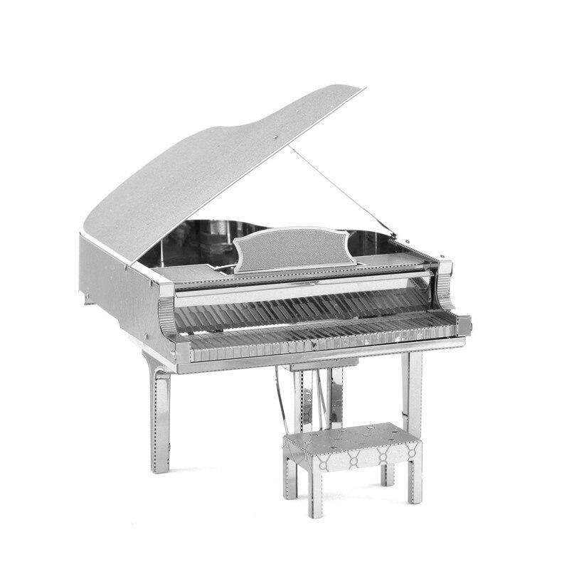 Instrumentos Musicales de Piano Rompecabezas Del Metal Clásico de Acero Inoxidab