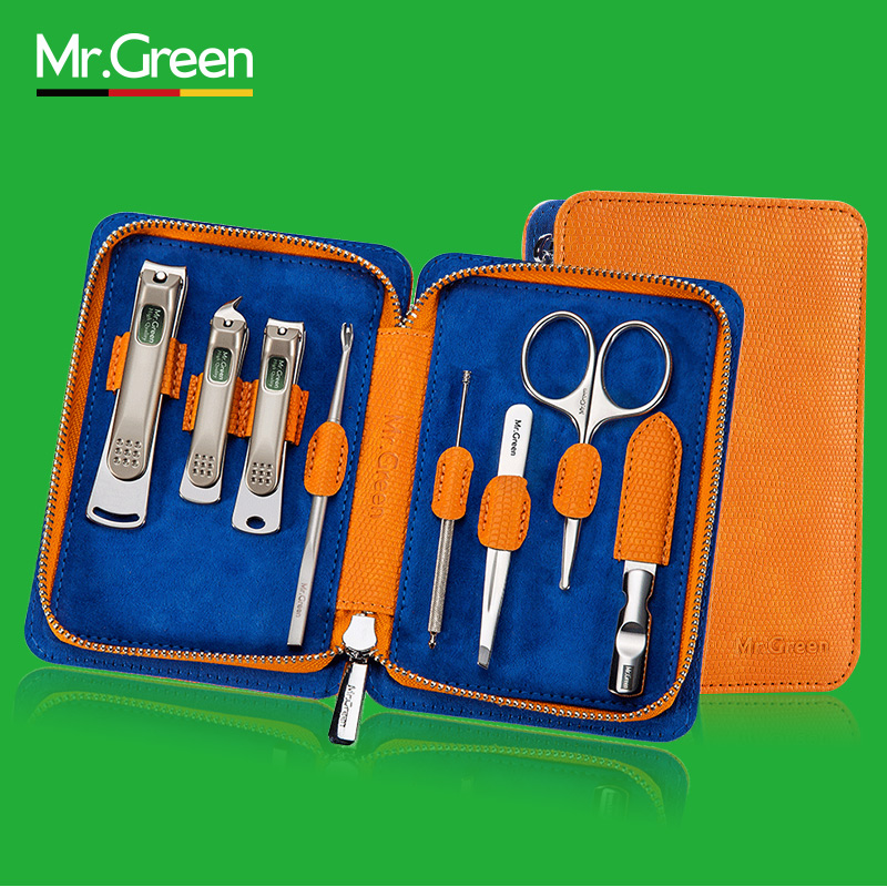 MR.GREEN 8PCS/set Nail Art Manicure Tools Nails Clipper Scissors Tweezer Knife Manicure Sets 12 pcs nail art manicure tools set nails clipper scissors tweezer knife manicure sets stone pattern case for nail manicure