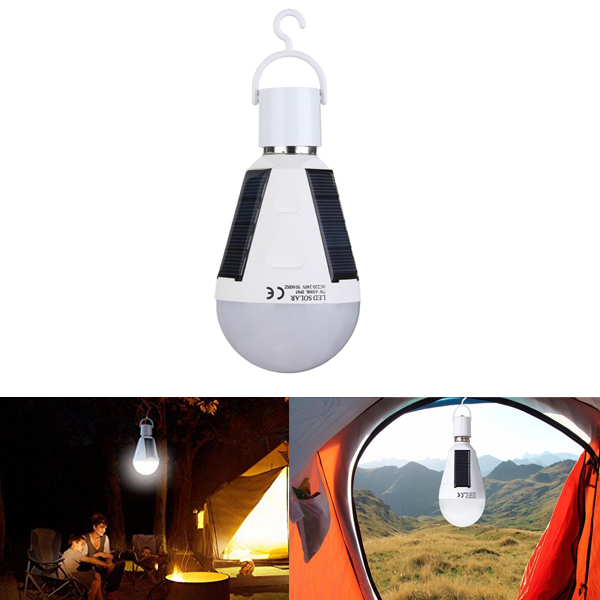 Portable Outdoor Emergency Lights Hanging Lantern IP65 LED Solar Power Lamp E27 220V Rechargeable Bulb for Camping Tent Fishing