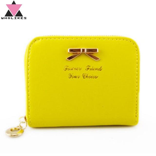 size 40 a181f 907c0 US $3.39 |Alibaba グループ | AliExpress.comの 財布 からの  Wholikesブランド2017ファッション革黄色女性財布高品質ジッパ ...