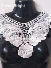 NEW 1pcs white Lace collar 18 Sexy Style flower and heart Venetian lace Decoration decoration lace fabric Sewing accessories diy