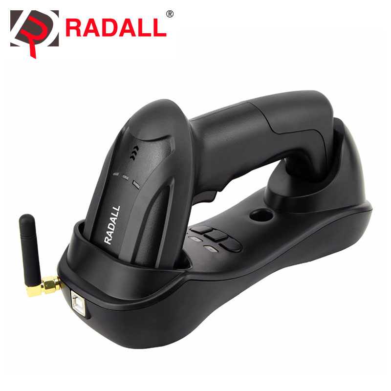 Handheld Wireless Barcode Scanner Reader 32 Bit with Memory 4MB Cordless Easy Charging Bar Code Scan for POS Inventory - RD-H2