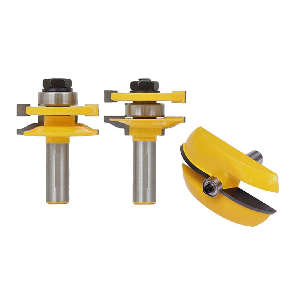 3pcs 1/2 Handle Raised Panel Door Router Bit Milling Cutter Power Hand Tool gown