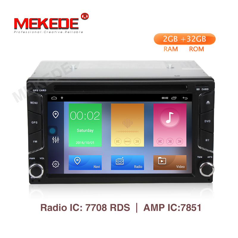 Promotion Mekede 2GB 32GB android 9 1 car radio gps dvd player for nissan v w