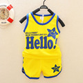 Hello Print Baby Set Children's Set Kid's T-shirts Girls Boys T shirt+Pants Undershirt Shorts,Clothing Set,Children's Clothing