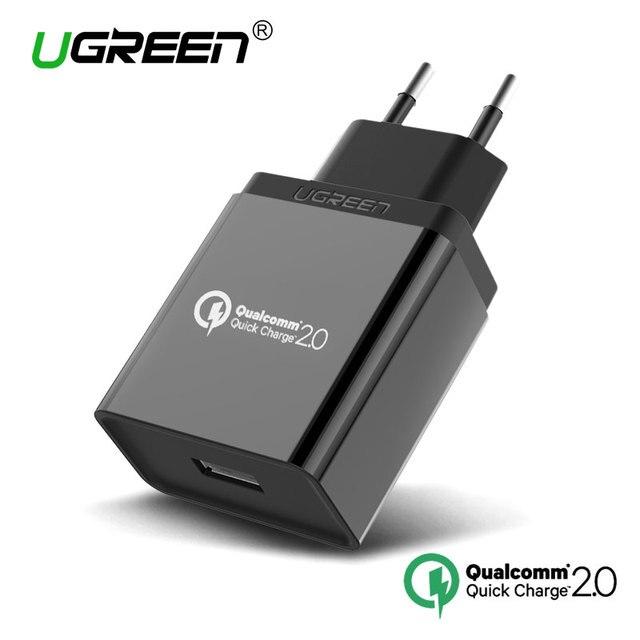 Ugreen Qualcomm Carga Rápida 3.0 2.0 Rápido Cargador de Teléfono Móvil USB Cargador de viaje para Samsung S5 S6 LG G4 Xiaomi 3 Rápida cargador