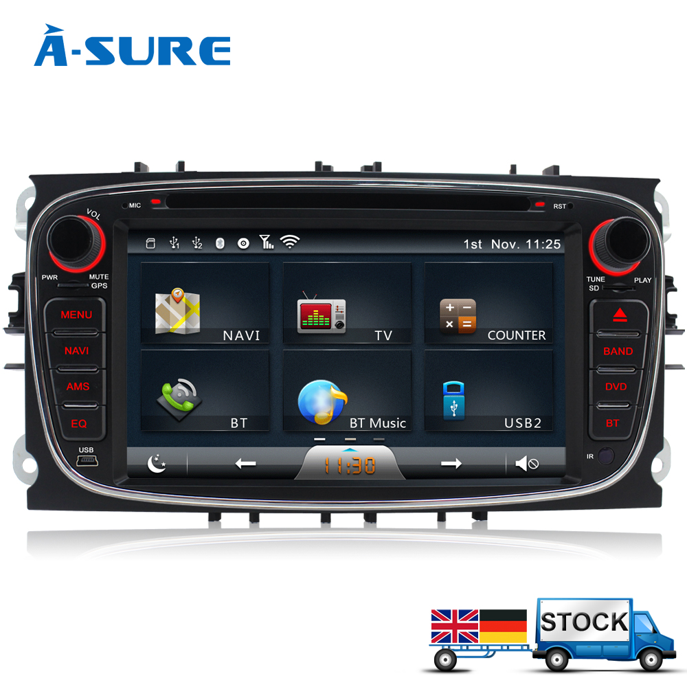 a sure dvd player gps sat nav gps radio for ford focus c. Black Bedroom Furniture Sets. Home Design Ideas