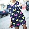 Estrella Mujeres Camiseta Gasa Del Verano Camisas Feminina Top Tee Camisa Corta Ropa Blusa Camisa de Verano Tops Mujeres Camisa Floral