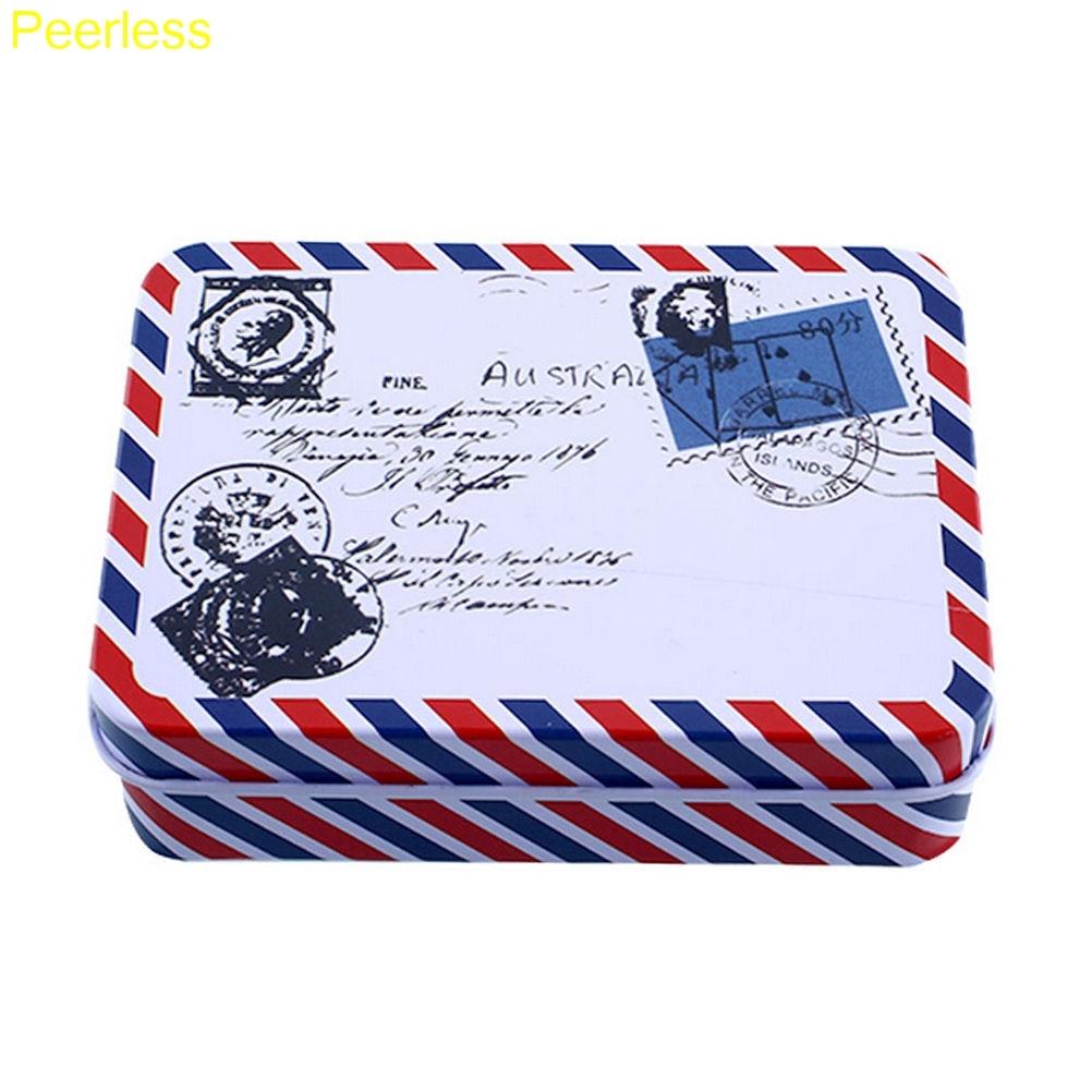 Peerless Mini Cartoon Tin Metal Box Case Home Storage Desk Organizer For Stationery Supplies Office & School Supplies