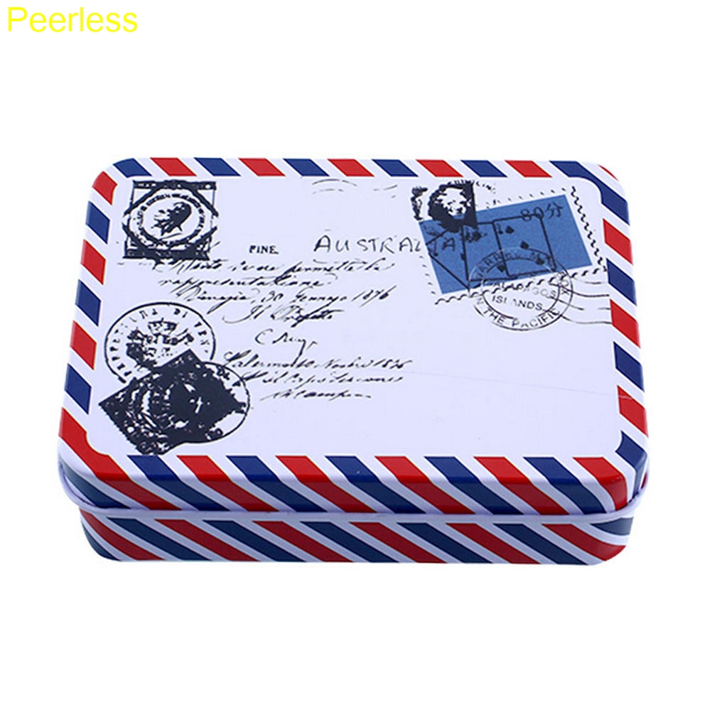 Peerless Mini Cartoon Tin Metal Box Case Home Storage Desk Organizer For Stationery Supplies