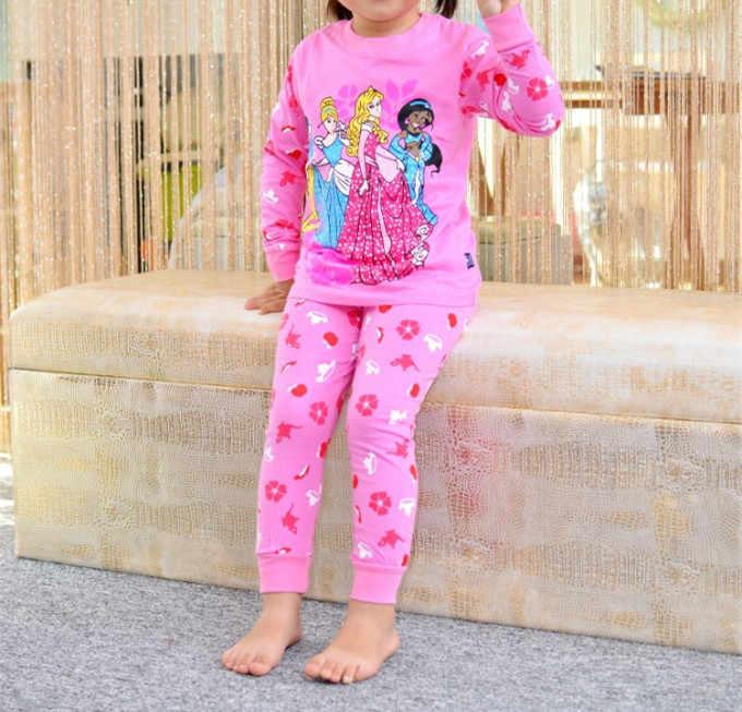 5c1eb51c4 ... Children Pajamas Cotton Nightwear Hello Kitty Princess Cartoon  Loungewear Kids Girls Homewear Spring Autumn Sleepwear Free