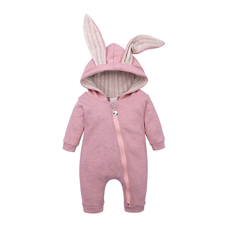 Spring Autumn Baby   Rompers   Cute Cartoon Rabbit Costume Infant Girl Boy Jumpers Kids Baby Outfits Clothes Child Overalls 0-18M