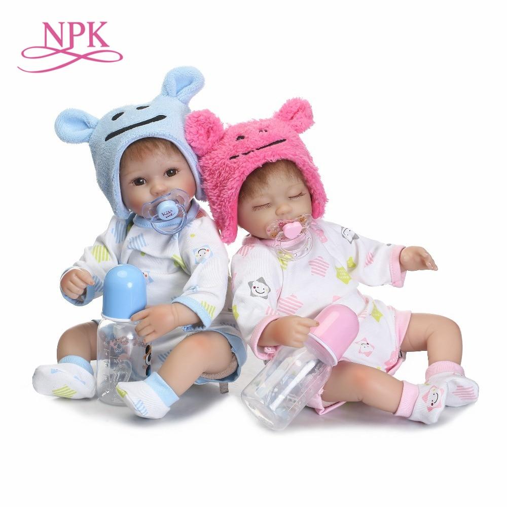 NPK 40cm Silicone Reborn Boneca Realistic Fashion Baby Dolls For Children Birthday Gift toys Bebes Newborn Dolls