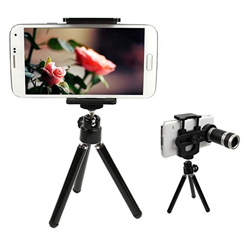 Universal 8x telephoto lens with tripod for Xiaomi/Huawei