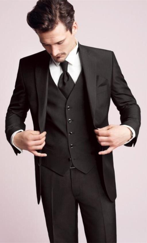As Custom Pantalon Homme Notch Picture Picture Made Marié as 2017 Bal Costumes Noir Garçons De Smokings Meilleur Gilet veste Dîner Mariage Cravate D'honneur Revers RwdqXPTx