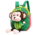 Unisex Cute Monkey Plush Backpacks Toddlers Kids PreSchool Kingdergarten Cartoons Stuffed Dolls Toys Animal School Bag Schoolbag
