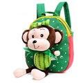 Unisex Macaco Bonito Mochilas De Pelúcia Crianças Kids PreSchool Kingdergarten Desenhos Animados Bonecos de Pelúcia Brinquedos Animal Saco de Escola Mochila