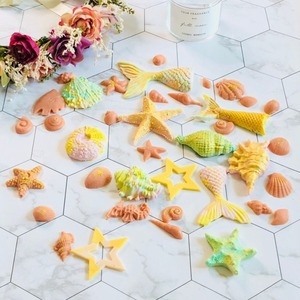 Image 5 - 3D denizkızı kuyruğu kek silikon kalıp deniz kabuğu denizyıldızı fondan kalıpları kek dekorasyon araçları şeker zanaat çikolata kalıp pişirme aracı