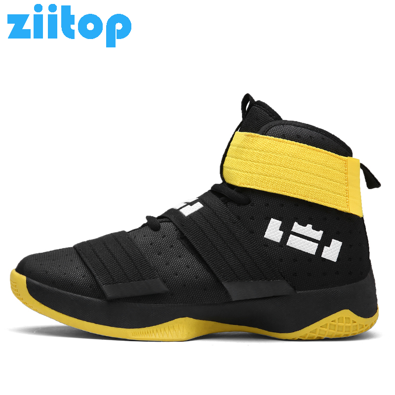 Ziitop Basketball Shoes Men Sneakers Lebrons High top Lace up Ankle Sport Shoes Air cushion Shockproof basket homme baloncesto man light jordan basketball shoes breathable anti slip basketball sneakers men lace up sports gym ankle boots shoes basket homme