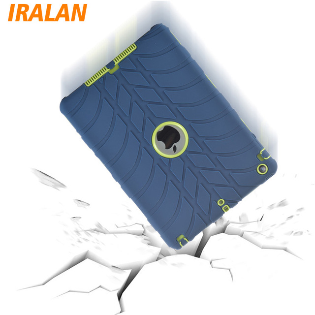 Hybrid Armor Case For iPad Air 2/iPad 6 Kids Safe Shockproof Heavy Duty Silicone Hard drop resistance ipad tablet accessories