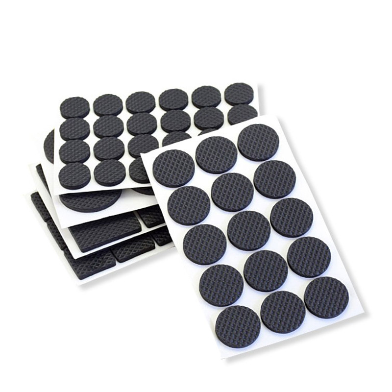 New Multiple Models Protecting Furniture Leg Wooden Self Adhesive Rubber Feet Pads Defence Pads For Chair Table Legs TSLM1