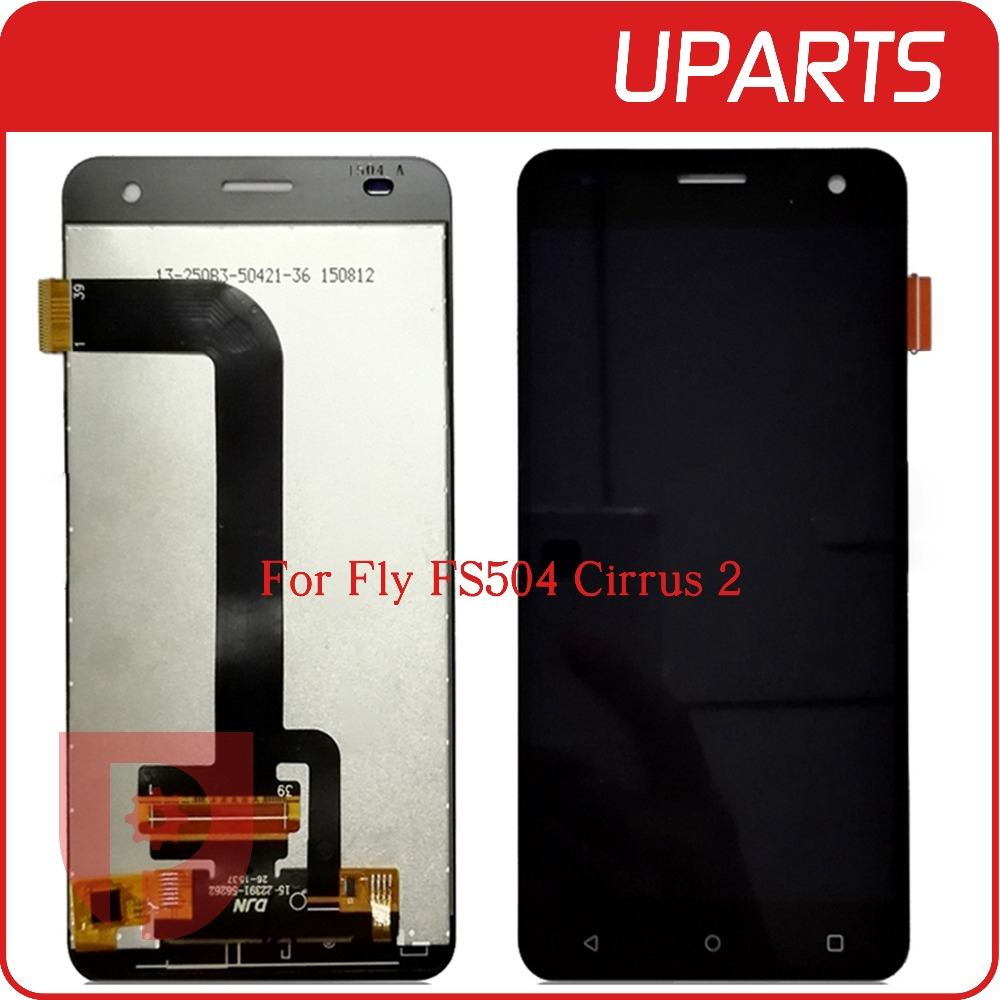 A+++ High Quality For Fly FS504 FS 504 Cirrus 2 LCD Display + Touch Screen Assembly LCD Digitizer Glass Panel Replacement