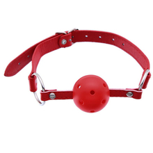 Red Sex Harness Mouth Solid Ball Gag Breathable Restraints Exciting For Couple Dropshipping