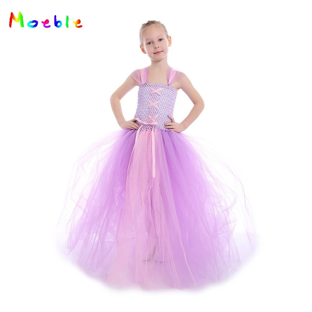Fantasia Vestidos, 2017 niños Cosplay Vestidos Rapunzel princesa ...