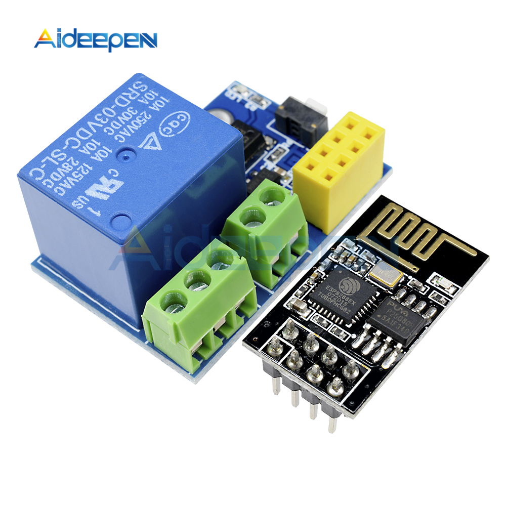 Aideepen 4 Channel Dc 5v Relay Module Wireless Wifi Delay Switch Arduino App Remote Control For