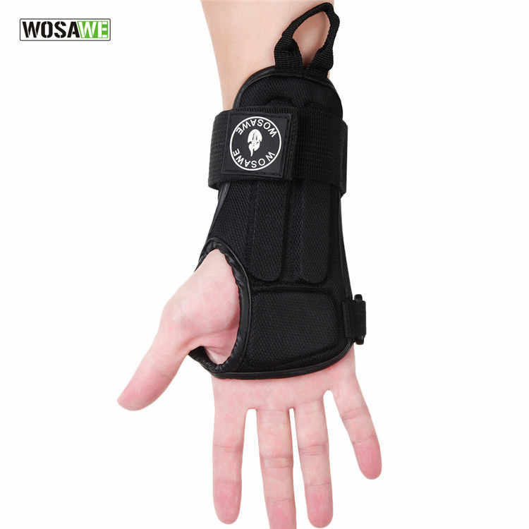 WOSAWE 1คู่ปรับGuardและปาล์มป้องกันสนับสนุนแผ่นรั้งEVAสเก็ตมือProtectionสายรัดข้อมือ