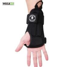 WOSAWE 1 Paar Einstellbare Schutz Handgelenk und Palm Schutz Unterstützung Brace Pads EVA Skating Hand Schutz Stoßfest Armbänder