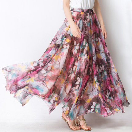 Online Get Cheap Long Floral Skirt -Aliexpress.com | Alibaba Group