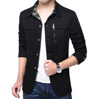 2017 Hot Sale Turn-down Collar Men Jacket Single Breasted Coat Slim Mens Casual Conventional Jackets Big Size M-4XL