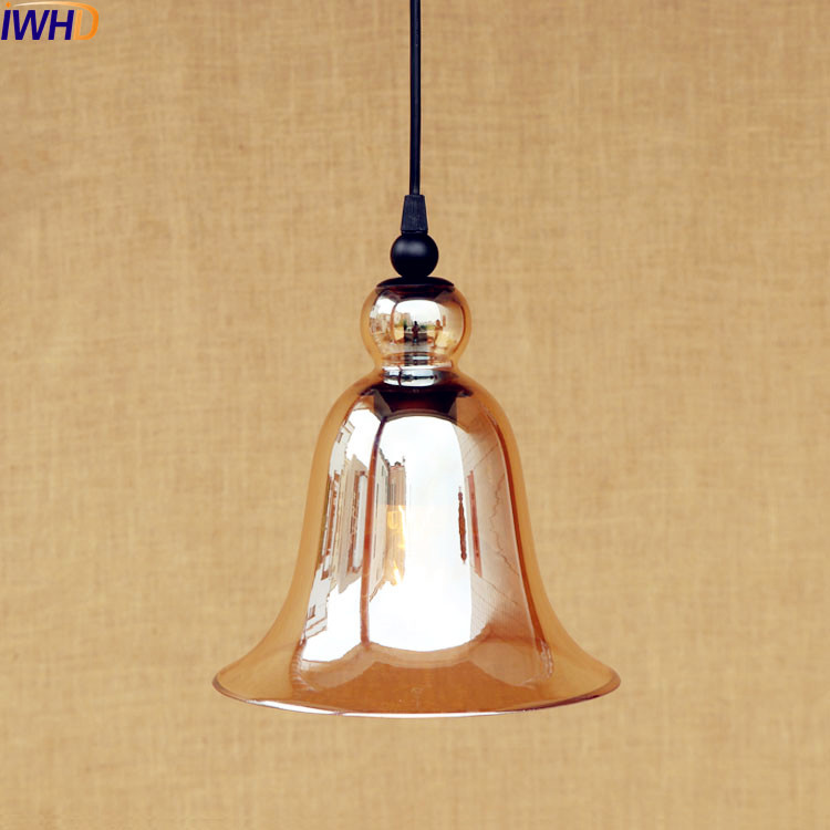 IWHD Glass Retro Vintage Pendant Light LED Edison Loft Style Industrial Lamp Indoor Lighting Fixtures Hanging Lights iwhd american edison loft style antique pendant lamp industrial creative lid iron vintage hanging light fixtures home lighting