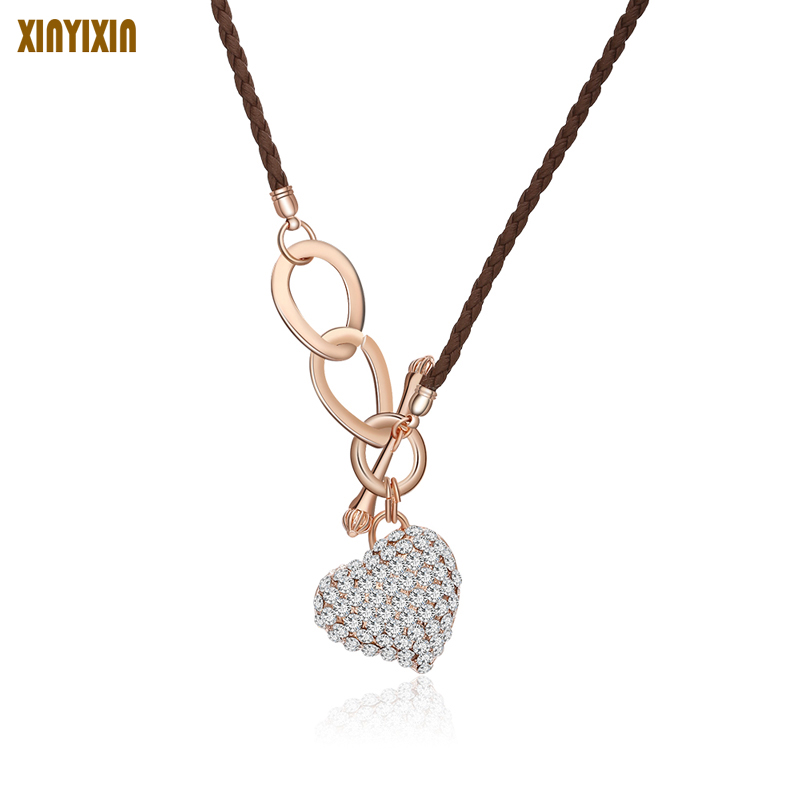 MuCopper Love Heart Pendant Layer Clavicle Choker Necklace Fashion Collar Bijoux For Women Jewelry Game Of Thrones Wholesale ...
