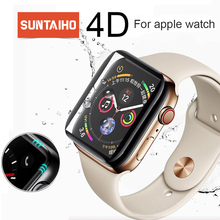 Suntaiho 4D curved surface 9H Tempered film For Apple watch 40/44mm 38/42 mm Screen Protector for Series 4/3/2 Film