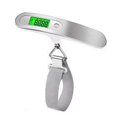 Электронные весы для багажа, цифровой подвесной безмен с крючком, максимальный вес 50 кг, точность 10 г