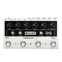 Yueko Mooer Digital Preamp Live Guitar Effect Pedal Equipped with 12 Independent Pre stage Channels Guitar Accessories